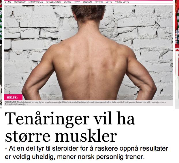 c28cb203 Artikkel i nettavisen om ungdom og trening. 11. desember 2012; Martin Norum  ...