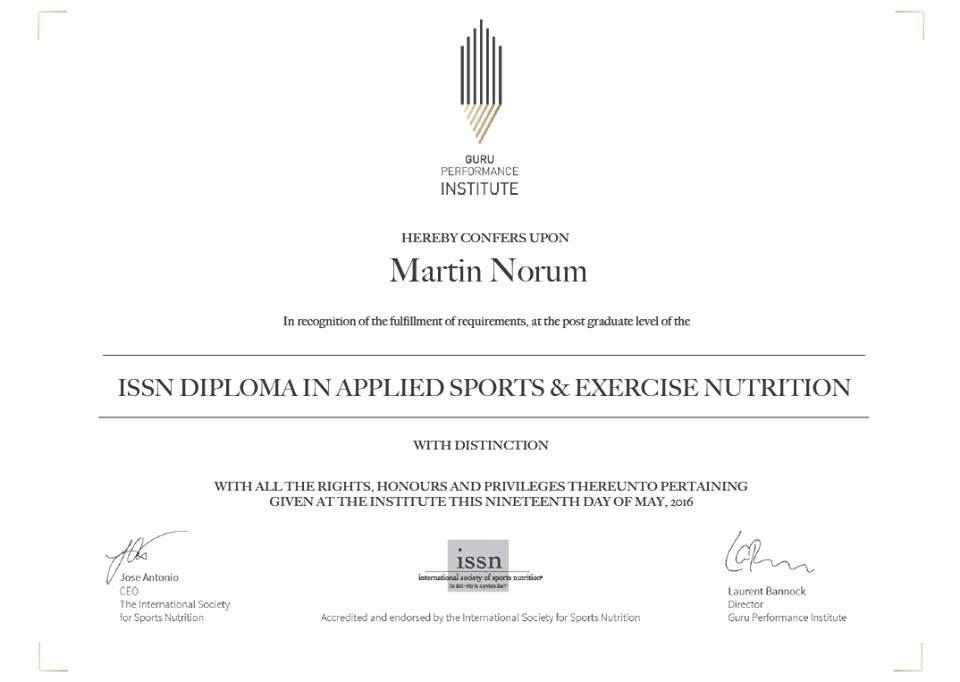 ISSN Diploma Distinction